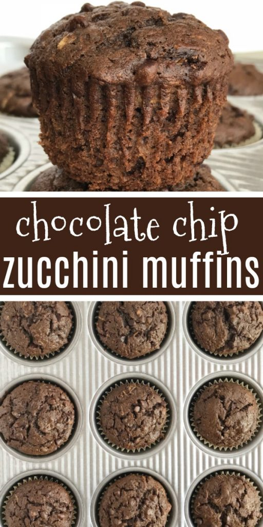 Chocolate Zucchini Muffins | Chocolate zucchini muffins are loaded with chocolate, chocolate chips and plenty of zucchini! Shredded zucchini makes these chocolate muffins so moist and crazy delicious. #muffins #chocolate #easyrecipes