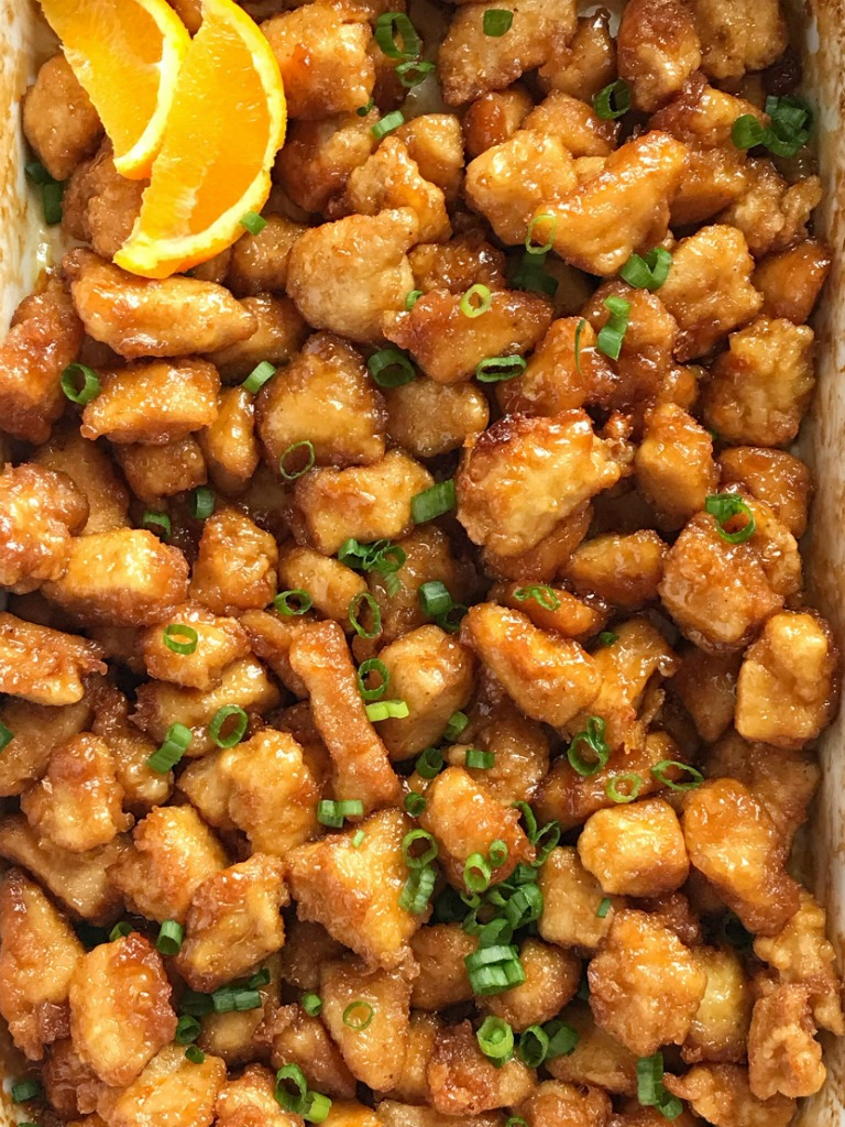 Baked Orange Chicken Together As Family