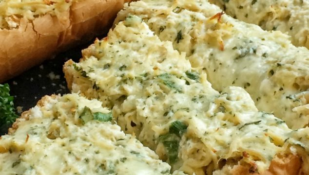 This meal comes together in less than 30 minutes! A creamy, cheesy shredded chicken mixture on top of crunchy french bread. French bread hot chicken hoagies are a quick, easy & family approved meal that everyone will love