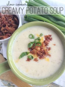 This will be the easiest potato soup you'll ever make because there is nopeeling and chopping potatoes!Let the slow cooker do all the work for a delicious, ultra creamy potato soup. This slow cooker creamy potato soup is made easy because it uses a bag of frozen cubed hash brown potatoes!