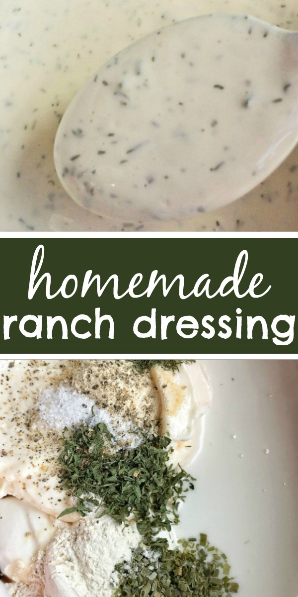 The Best Homemade Ranch Dressing   Ranch   Homemade Salad Dressing   You can make delicious homemade ranch dressing in just minutes! This is the best ranch salad dressing you'll ever try! #easyrecipe #homemade #ranch