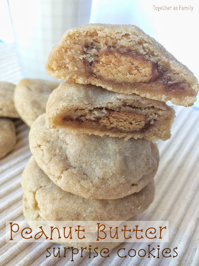 Peanut Butter Surprise Cookies - Together as Family