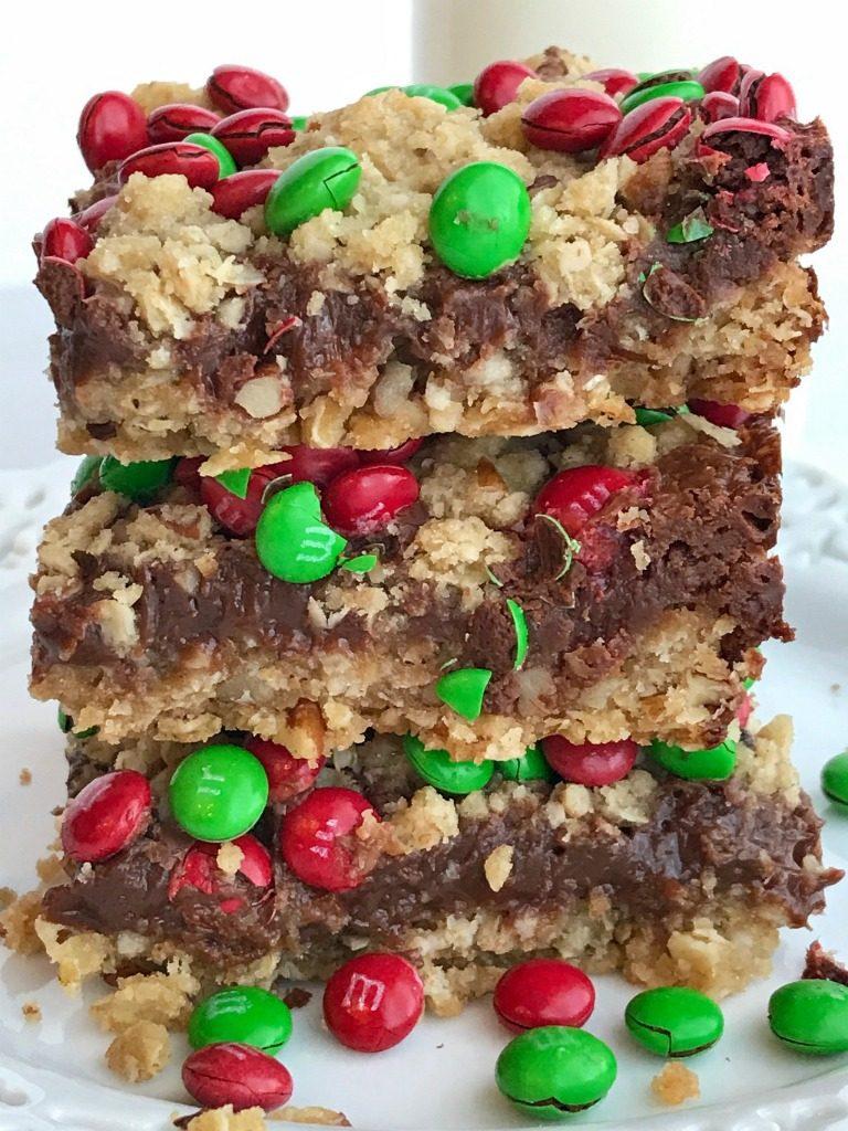 Chocolate Fudge Christmas Goody Bars | Chocolate | Fudge | Christmas Cookies | Dessert | Dessert Recipes | Christmas Food | Christmas Desserts | Pecans | www.togetherasfamily.com #christmastreats #christmasdesserts #chocolate #fudge