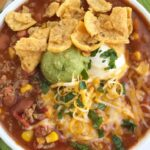Simple Taco Soup | Taco Soup Recipe | Ground Beef Recipe | Taco soup has all the flavors of a taco but in a warm & comforting soup. Simple ingredients and 30 minutes is all you need for the best taco soup. One pot and no chopping! #tacosoup #souprecipes #recipeoftheday #dinner #easydinnerrecipes #groundbeefrecipes