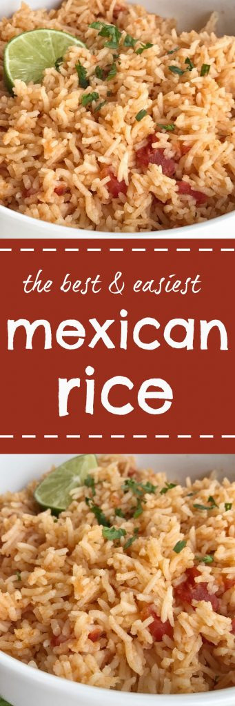 "I've been making this version of Mexican rice for several years now. I gave my sister the recipe and they love it too. She will text me and say ""why is that rice not on your blog?!?"" So, here it is :) I'm kind of picky about my rice. It has to be fluffy, on the drier side, tons of flavor, not spicy, and it needs to be easy with no chopping required. Chopping means extra dishes and no one wants that."
