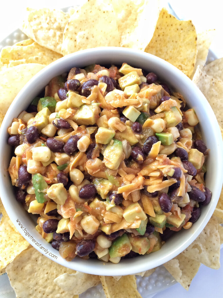 BLACK BEAN CORN SALSA | fast & simple, NO CHOPPING! www.togetherasfamily.com