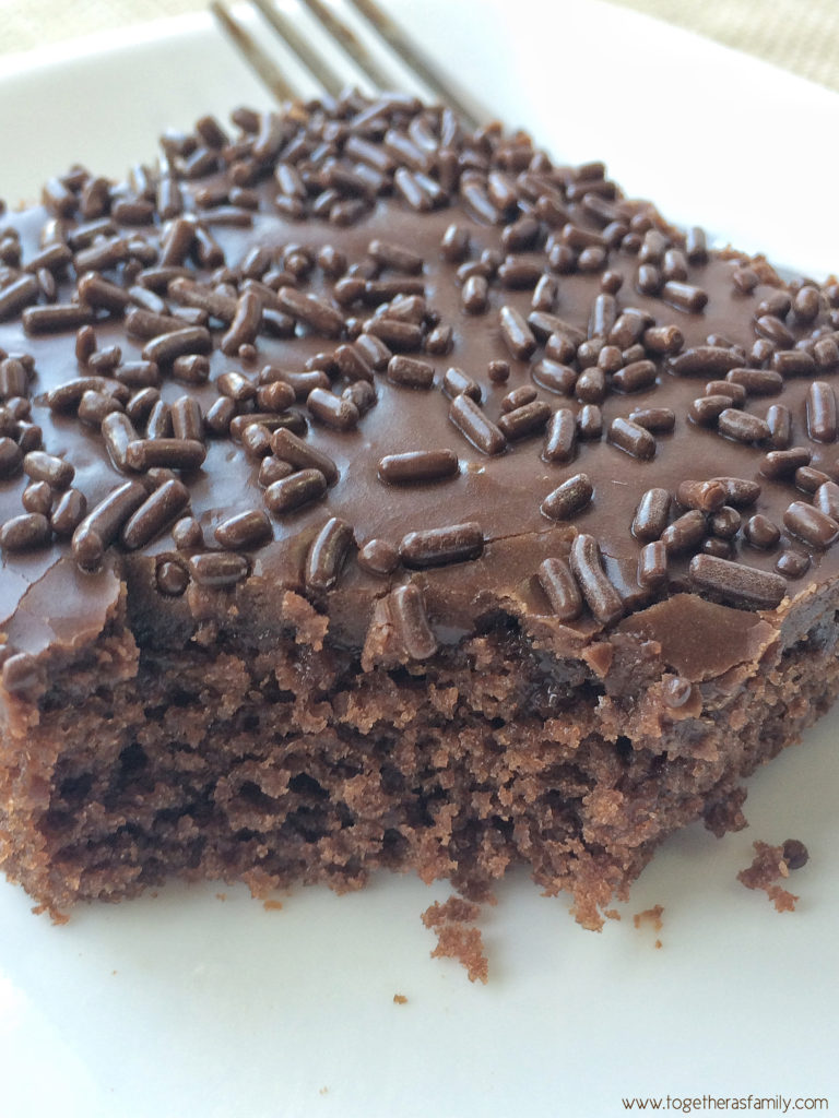 PERFECT CHOCOLATE SHEET CAKE | Together as Family