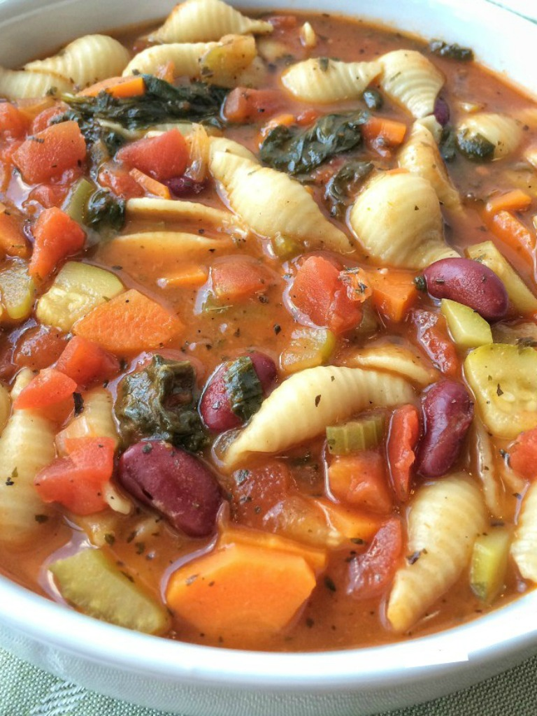 minestrone soup together as family