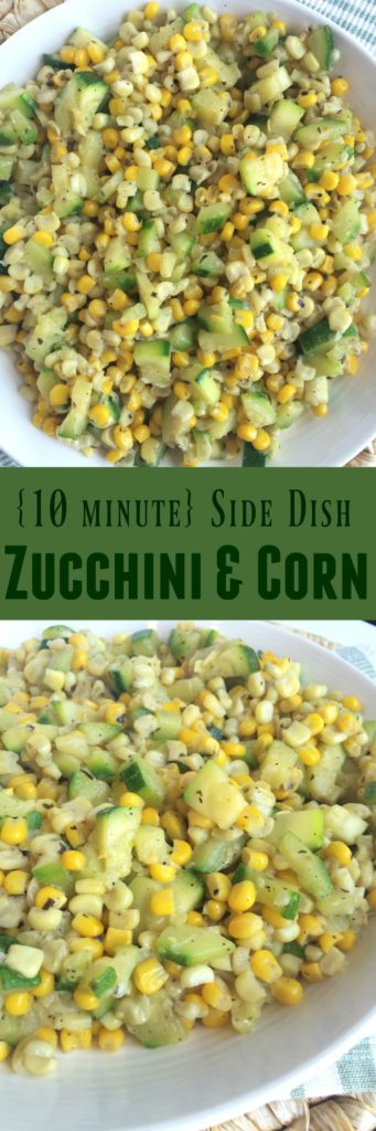 This zucchini & corn saute is only a 10 minute side dish.