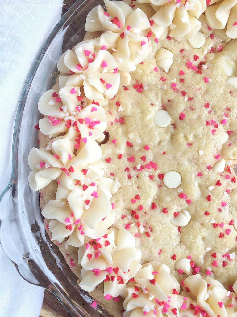 Little Sweetheart Cookie Cake