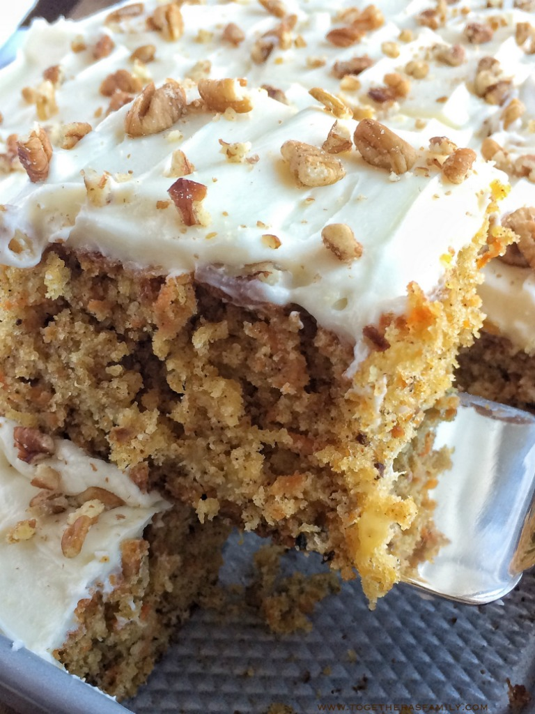 Pineapple Pecan Carrot Cake - Together as Family