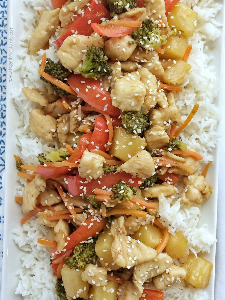 Pineapple Teriyaki Chicken Stir Fry Together As Family