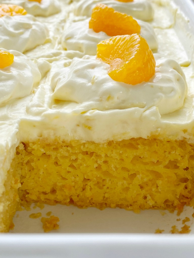 Orange Pineapple Cake Together As Family