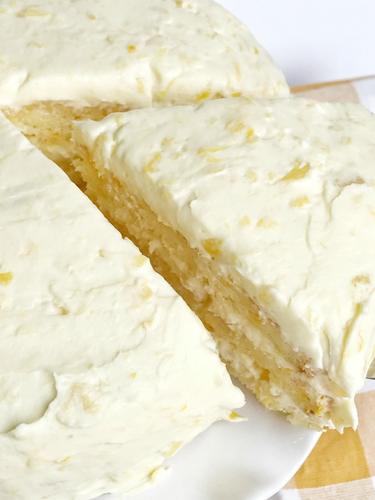 Orange Pineapple Layer Cake - Together as Family