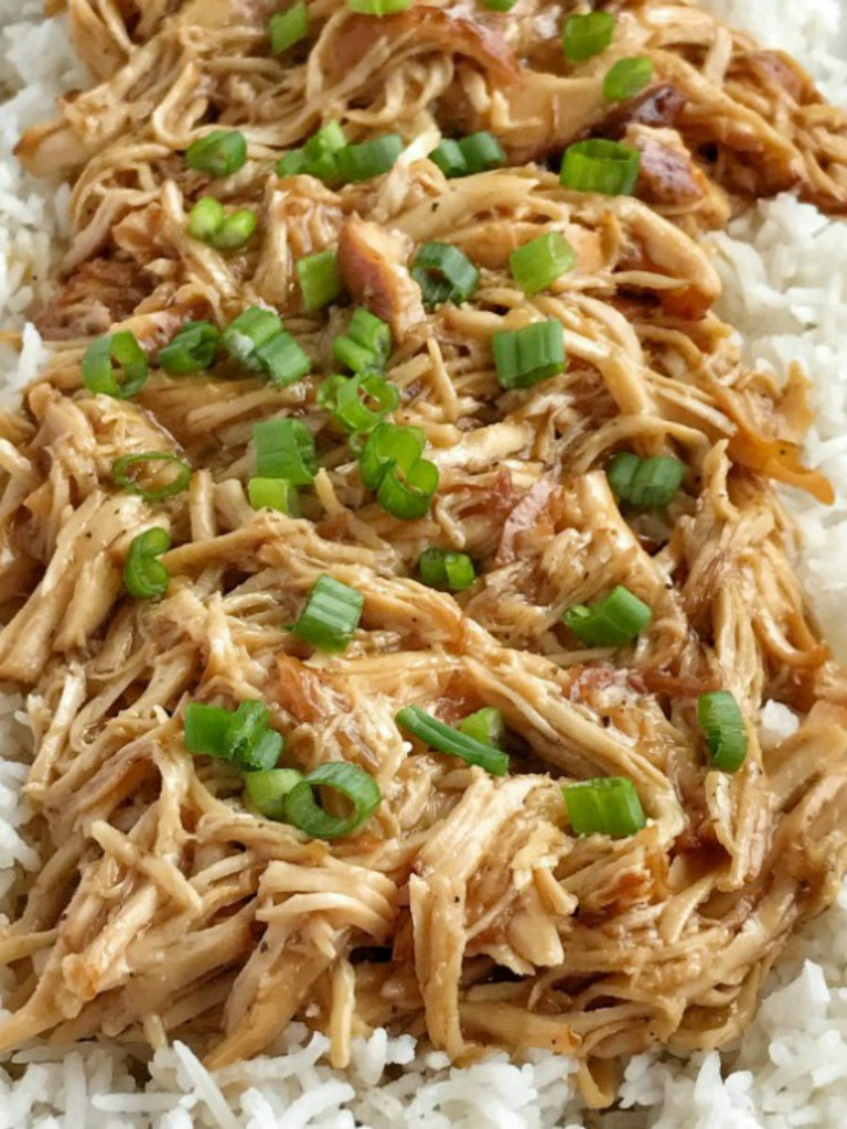 Sweet Garlic Chicken is an easy, dump & go, crock pot dinner recipe. Boneless, skinless chicken breasts cook in an easy homemade sweet garlic sauce all day. Serve over rice and garnish with green onions.