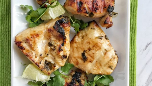 Fire up the grill for this Honey lime & cilantro marinated grilled chicken. It's so flavorful thanks to the marinade of honey, lime, cilantro, olive oil, fresh garlic, and seasonings. Make this for an easy and delicious weeknight dinner or weekend BBQ.