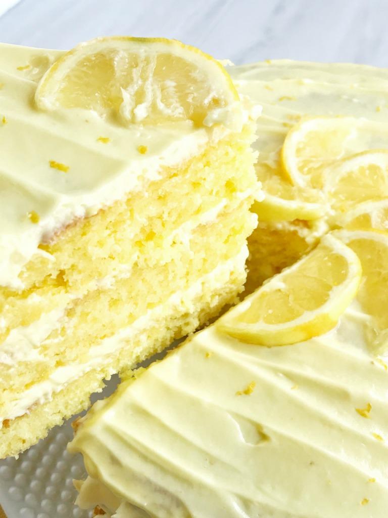 Lemon Whip Cream Cake