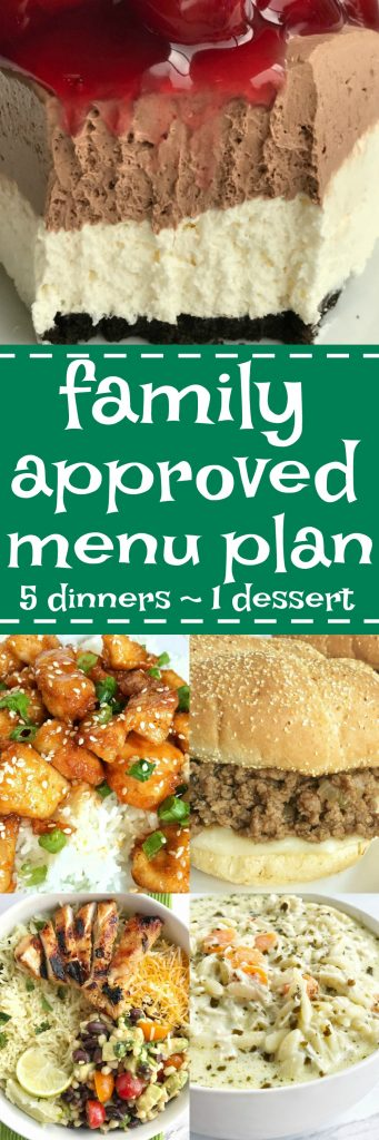 Family menu plan that everyone will love! These have all been kitchen tested over and over again, and will help you get dinner on the table. Easy, family approved, simple ingredients, and delicious food to enjoy together   togetherasfamily.com