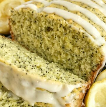 Lemon Pudding Poppyseed Bread | Sweet Bread Recipe | No yeast bread recipes | Quick & easy lemon pudding poppyseed bread is bursting with bright lemon flavor, poppyseeds, with a sweet glaze. A secret ingredient, lemon pudding mix, that makes this bread so moist and delicious. Now you can enjoy lemon poppyseed bread using convenient and easy ingredients.