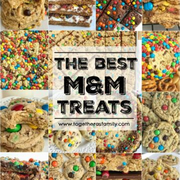 The Best Must Make M&M Treats | The best M&M treat recipes that you must make! Cookies, dessert, brownies, and bar recipes! Colorful candies make any treat better and I've collected all of our favorites in one place. Be sure and buy some m&m's so you can whip up one (or several) of these colorful and tasty treats.