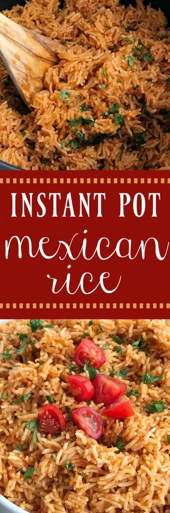 Instant Pot Mexican Rice   Instant Pot Mexican rice is the perfect side dish to any Mexican food! Perfect for burrito bowls, side dish, inside burritos, or on top of nachos! Fluffy and flavorful Mexican rice is made in the Instant Pot with only a few simple ingredients. #instantpot #instantpotrecipes #mexicanrice #mexicanfood #mexicanfoodrecipes