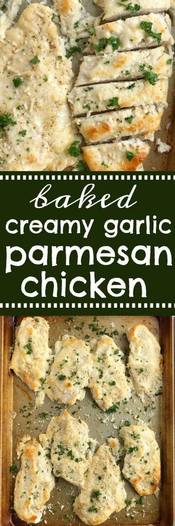 Baked Garlic Parmesan Chicken | Chicken Breast Recipes | Baked Chicken | Chicken Recipes | Baked garlic parmesan chicken is an easy dinner that everyone will LOVE! #easydinnerrecipes #chicken #dinner