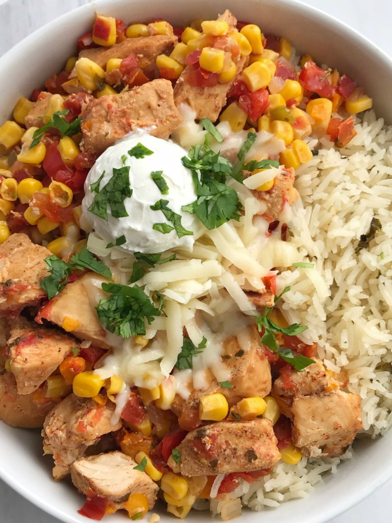 Tex-Mex Chicken   Chicken Recipes   Dinner Recipe   Slow Cooker   Crock Pot   Tex-Mex chicken is made in the slow cooker with only 5 easy ingredients plus some seasonings! Set it and forget it dinner that is ready when you are and it's healthy & nutritious. Serve as rice bowls, inside burritos, on top of nachos, or any other way you want. #chicken #chickenrecipe #slowcooker #crockpot #easydinnerrecipes #dinner #healthy #recipeoftheday