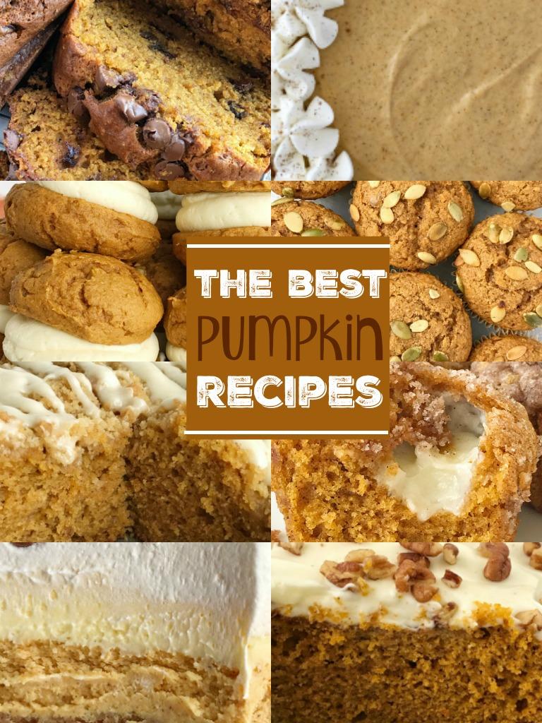 The Best Pumpkin Recipes   Pumpkin Desserts   Pumpkin Bread   Pumpkin Cheesecake   Pumpkin Sugar Cookies   The best pumpkin recipes all in one place! #pumpkin #pumpkinrecipes #pumpkincake #recipeoftheday