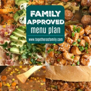 Family Approved Menu Plan  Family menu plan that your entire family will love! Easy, family approved, simple ingredients, and delicious food to enjoy together. All these recipes are tried & true and been tested many times over again in my own kitchen. Happy cooking from my kitchen to yours ♥