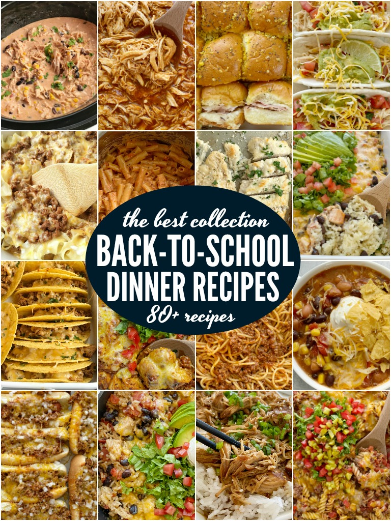 The Best Back-to-School Dinners for your busy weeknights. 30 minute dinner recipes, slow cooker recipes, kid-friendly casseroles, soup & chili recipes, and Instant Pot recipes. All these are family tested and approved. The best collection for quick and simple recipes, and dump & go recipes for weeknight dinners.