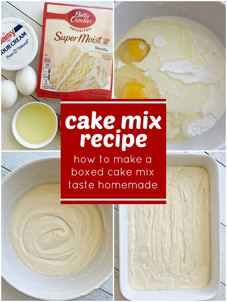 Cake Mix Recipe Together As Family